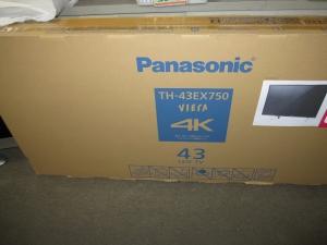 Panasonic TH-43EX750 パナソニック4K VIERA 43インチ 未開封新品 買取させて頂きました!